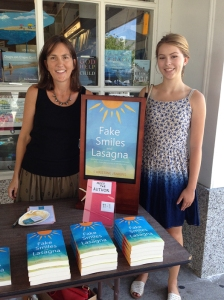 Christine and her daughter Sydney at the Yellow Umbrella book store in Chatham, Mass.
